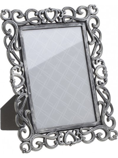 INART Κορνίζα Πλαστική Αντικέ Ασημί Κωδικός: 3-30-452-0018 Διαστάσεις:  13X18 Εκατοστά