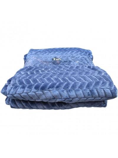 Κουβέρτα Flannel TNS Διπλή Μπλε Χρώμα Κωδικός: 39-950-1698-B Διαστάσεις: 2,00Χ2,20 Εκατοστά