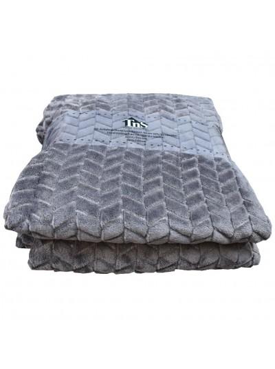 Κουβέρτα Flannel TNS Διπλή Γκρι Χρώμα Κωδικός: 39-950-1698-G Διαστάσεις: 2,00Χ2,20 Εκατοστά