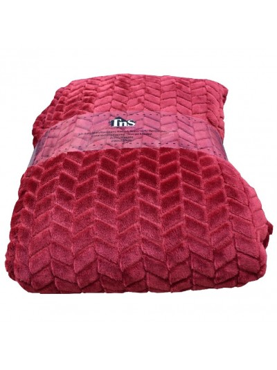 Κουβέρτα Flannel TNS Ημίδιπλη Κόκκινο Χρώμα Κωδικός: 39-950-1697-R Διαστάσεις: 1,50Χ2,20 Εκατοστά