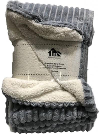 Κουβέρτα Flannel Ριγέ Γκρι TNS  Κωδικός: 39-950-1552a Διαστάσεις: 1,50Χ2,20 Εκατοστά