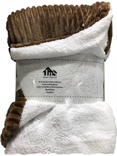 Κουβέρτα Flannel Ριγέ Καφέ TNS  Κωδικός: 39-950-1552b Διαστάσεις: 1,50Χ2,20 Εκατοστά