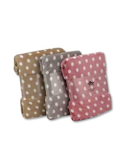Κουβέρτα Flannel Πουά Γκρι TNS Κωδικός: 39-950-1543a Διαστάσεις: 1,50Χ2,20 Εκατοστά