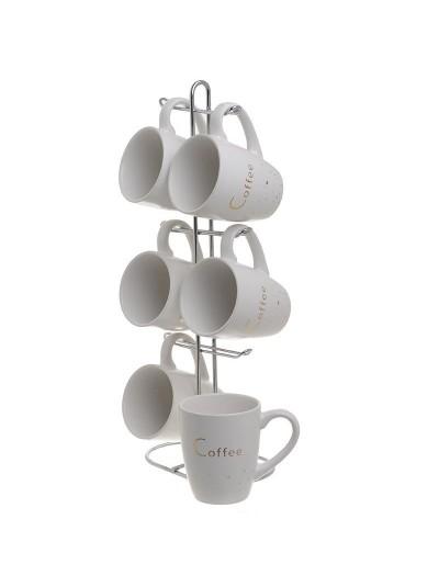 INART Σετ Καφέ 6 Τεμαχίων Με Βάση Κωδικός: 3-60-931-0151