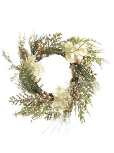 INART Στεφάνι Με Λουλούδια Διάμετρος 50 Εκατοστά Κωδικός: 2-85-083-0108