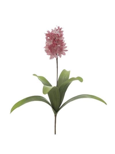 INART Διακοσμητικό Λουλούδι/Κλαδί Ροζ με Πράσινα Φύλλα  Κωδικός: 3-85-246-0152 Διαστάσεις: 100 Εκατοστά (Ύψος)