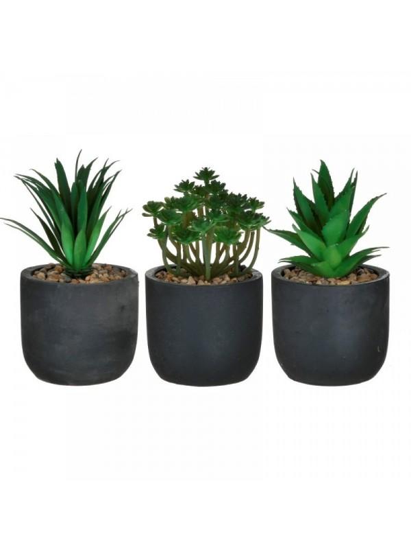 INART Τεχνητό Φυτό Σε Γλάστρα 14Χ20 3 Σχέδια Κωδ: 6-85-508-0002