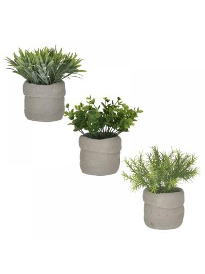INART Τεχνητό Φυτό Σε Γλάστρα 12Χ16 3 Σχέδια Κωδ: 6-85-508-0003