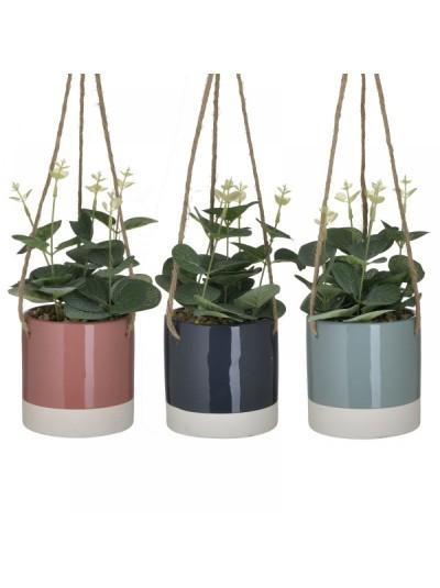 INART Τεχνητό Φυτό Σε Γλάστρα Κρεμαστό 10Χ34 3 Χρώματα Κωδ: 6-85-508-0004
