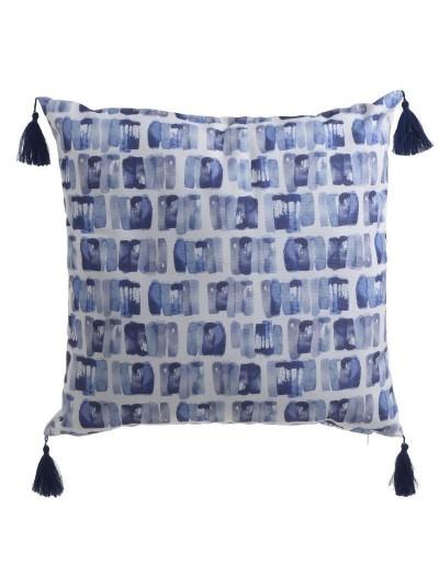 INART Υφασμάτινο Μαξιλάρι Μπλε/Λευκό 40Χ40 3-40-104-0144