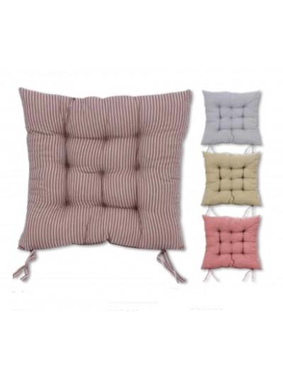 Μαξιλάρι Καρέκλας με Ρίγα TNS Μπεζ/Κόκκινο Κωδικός: 35-950-1667Κ Διαστάσεις: 40Χ40 Εκατοστά