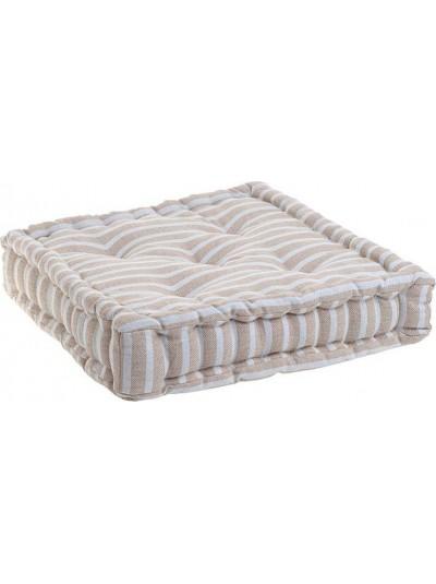 INART Μαξιλάρι Καθίσματος 40Χ40 Ριγέ Μπεζ/Λευκό Κωδικός: 6-40-807-0001