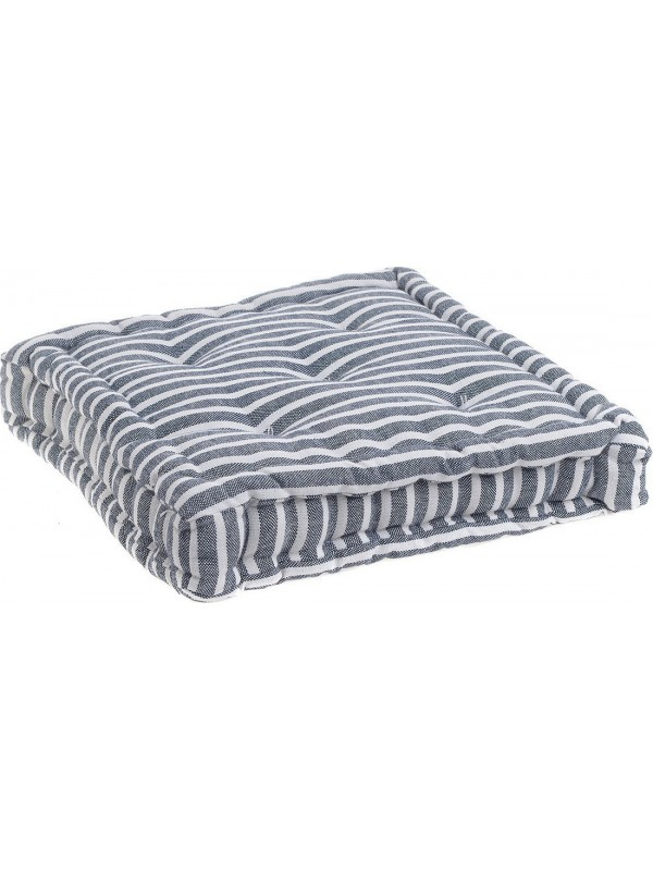 INART Μαξιλάρι Καθίσματος 40Χ40 Ριγέ Γκρι/Λευκό Κωδικός: 6-40-807-0004