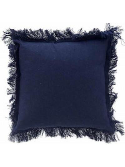 Υφασμάτινο Μαξιλάρι Καναπέ Μπλε Inart Κωδικός: 6-40-807-0015 Διαστάσεις: 40x40 Εκατοστά