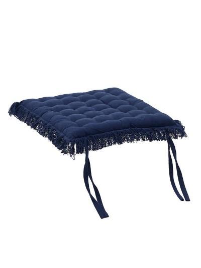 Υφασμάτινο Μαξιλάρι Καρέκλας Μπλε Inart Κωδικός: 6-40-807-0019 Διαστάσεις: 40x40 Εκατοστά