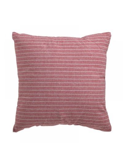 INART Μαξιλάρι Καναπέ Υφασμάτινο Κόκκινο Ριγέ 40Χ40 Κωδ: 6-40-807-0042
