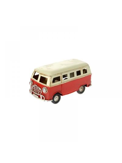 Μεταλλικό Λεωφορείο Κόκκινο Eκρού 11X5X5.6 Εκατοστά