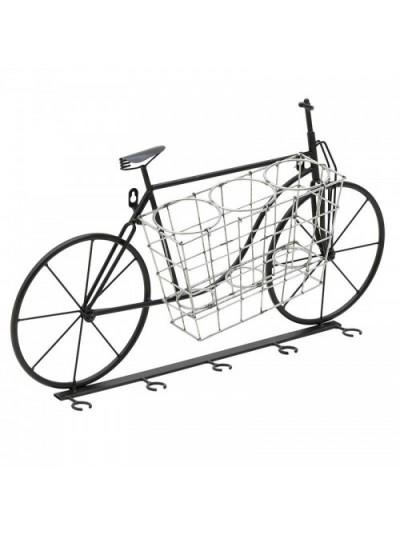 """Μπουκαλοθήκη/Ποτηροθήκη """"Ποδήλατο"""" 67Χ13Χ38 Εκατοστά"""