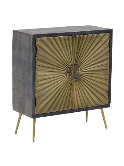 INART Ξύλινο Ντουλάπι Καφέ/Χρυσό Κωδικός: 3-50-350-0044 Διαστάσεις: 45Χ33Χ60 Εκατοστά