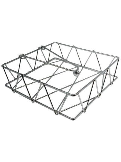 Μεταλλική Τετράγωνη Χαρτοπετσετοθήκη σε Ασημί Χρώμα ANKOR Κωδικός: 1039215503 Διαστάσεις: 5,5Χ18,5Χ18,5 Εκατοστά