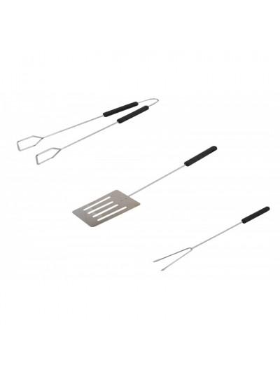 Σετ Εργαλεία Inox BBQ με Πλαστική Λαβή 3 Τμχ Κωδικός: 31-950-0028 Διαστάσεις: 36/36/37 Εκατοστά