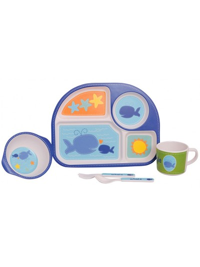 "Etoile Σετ Φαγητού Παιδικό Μπαμπού 5 τεμαχίων ""Whale"""