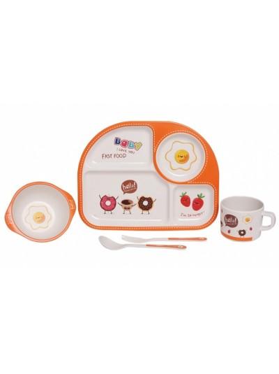 "Etoile Σετ Φαγητού Παιδικό Μπαμπού 5 τεμαχίων ""Egg"""