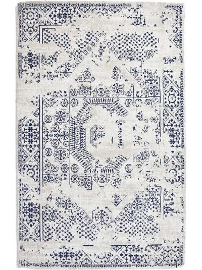Βαμβακερό/Σενίλ Χαλί με Μπλε Λεπτομέρειες INART Κωδικός: 3-35-419-0087 Διαστάσεις:  120X180 Εκατοστά