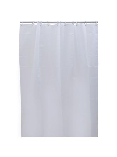 INART Κουρτίνα Μπάνιου Υφασμάτινη Λευκή Κωδικός:  6-40-508-0004 Διαστάσεις: 180Χ200 Εκατοστά