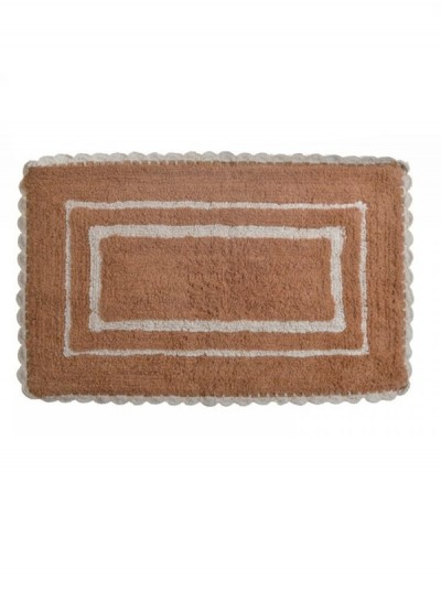 INART Πατάκι Μπάνιου Βαμβακερό Ορθογώνιο 50Χ80 Μπεζ/Καφέ Κωδ: 6-40-803-0017