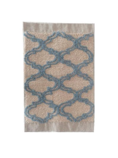 Πατάκι Μπάνιου Γαλάζιο/Λευκό Inart  Κωδικός: 6-40-803-0012 Διαστάσεις: 50x80 Εκατοστά