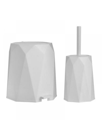 Inart Σετ Κάδος 5L Και Πιγκάλ Πλαστικό Λευκό 6-65-558-0020