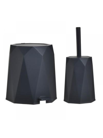 Inart Σετ Κάδος 5L Και Πιγκάλ Πλαστικό Ανθρακί 6-65-558-0021