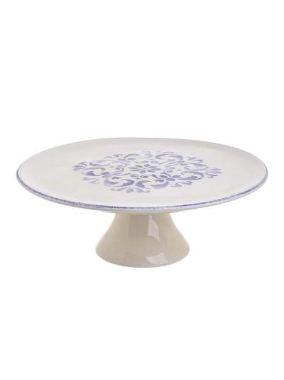 Κεραμική Τουρτιέρα INART Λευκή Κωδικός: 3-60-017-0042 Διαστάσεις: 27Χ27Χ10 Εκατοτά