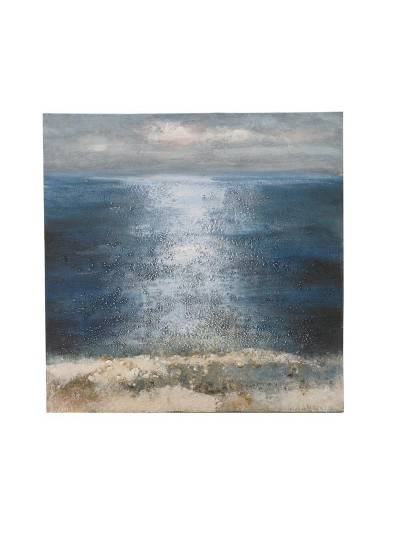 "INART Ελαιογραφία Σε Καμβά ""Θάλασσα"" Κωδικός: 3-90-006-0206 Διαστάσεις: 80Χ80 Εκατοστά"