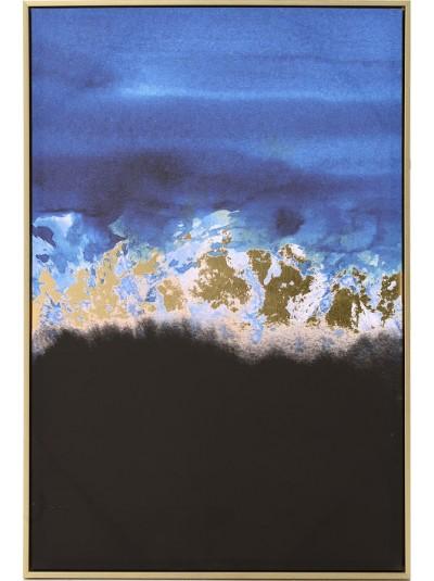 INART Πίνακας/Καμβάς Μπλε/Μαύρο Κωδικός: 3-90-704-0013 Διαστάσεις: 60Χ90 Εκατοστά