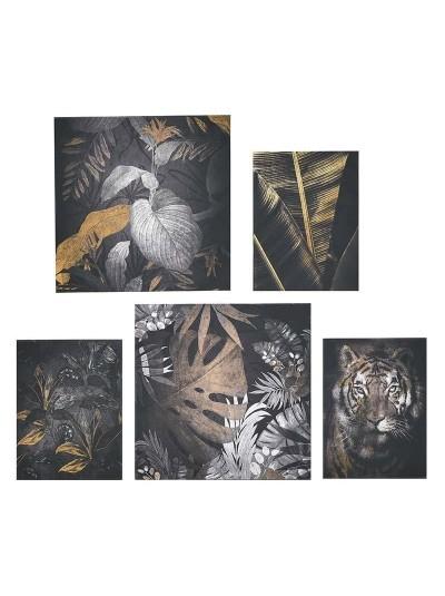 Πίνακας Printed Καμβάς Σετ Των 5 3-90-704-0053 Διαστάσεις (ΜΠΥ)25εκ x 3εκ x 25εκ
