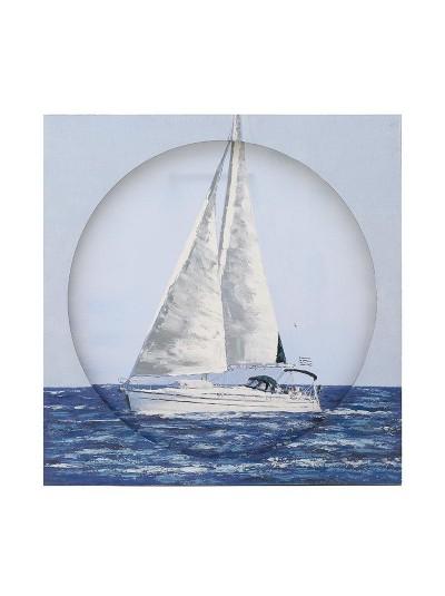 """Πίνακας Καμβάς """"Καράβι"""" INART Κωδικός: 3-90-859-0099 Διαστάσεις: 80Χ80 Εκατοστά"""