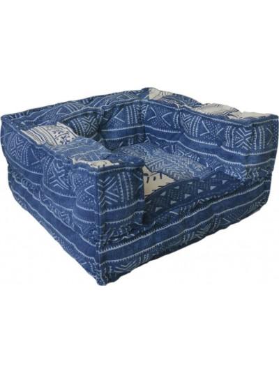 Υφασμάτινη Πολυθρόνα INART Μπλε Κωδικός: 7-50-122-0018 Διαστάσεις: 80Χ80Χ43 Εκατοστά
