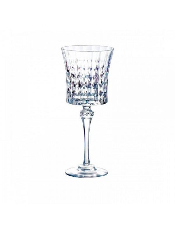 """Σετ 6 Τεμάχια Κρυστάλλινα Ποτήρια Κολωνάτα Νερού """"Lady Diamond"""" Eclat 27cl"""