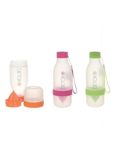 INART Μπουκάλι/Στύφτης Detox Πλαστικό σε Τρια Χρώματα Κωδικός: 6-60-180-0004 Διαστάσεις: 8Χ22 Εκατοστά