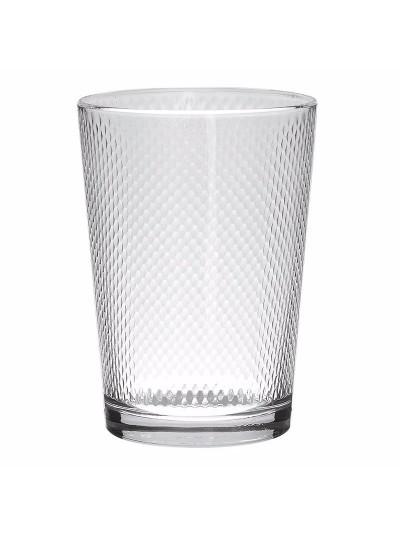 INART Ποτήρι Νερού Σετ Των 3 Γυάλινο Διάφανο με Ανάγλυφη Λεπτομέρεια Κωδικός: 6-60-221-0012