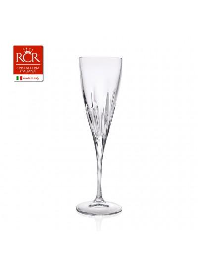 RCR Κρυστάλλινο Ποτήρι Σαμπάνιας Fluente 190ml Σετ Των 6