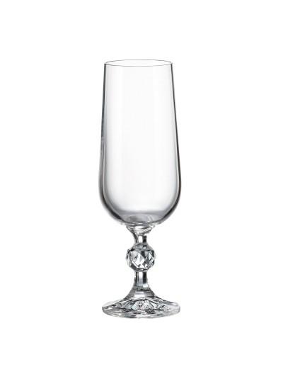 BOHEMIA CRYSTAL STERNA Κρυστάλλινο Ποτήρι Σαμπάνιας 180ml