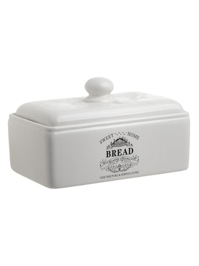 INART Ψωμιέρα Πορσελάνινη Λευκή Κωδικός: 6-60-690-0001 Διαστάσεις: 30Χ18Χ20 Εκατοστά