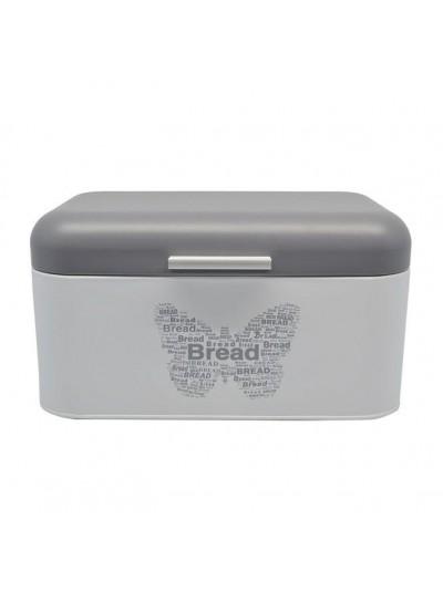 Μεταλλική Ψωμιέρα Γκρι με Διακοσμήτική Πεταλούδα ANKOR Kωδικός: 794133 Διαστάσεις: 30x20x17 Εκατοστά