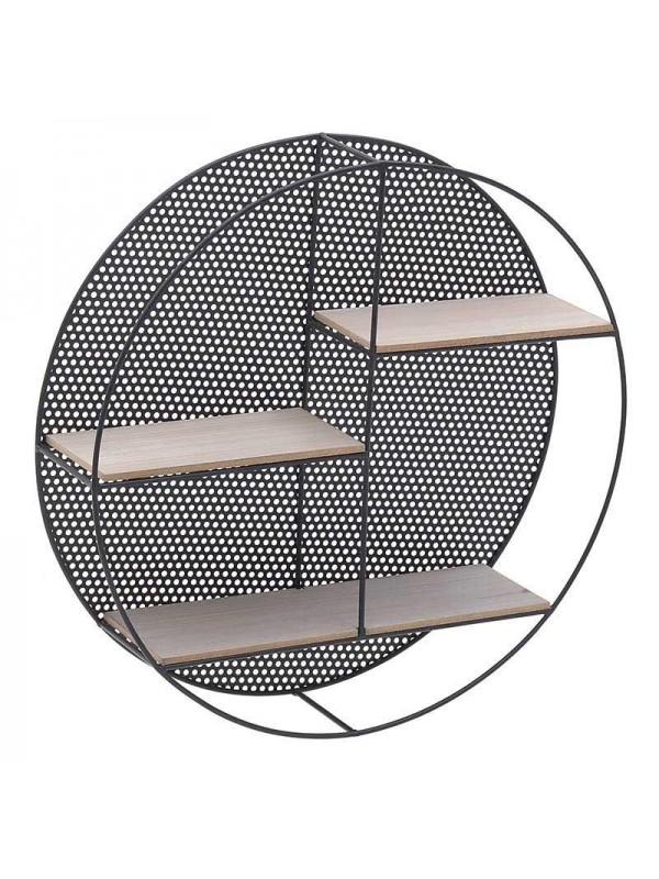 INART Μεταλλική Ραφιέρα Τοίχου Μαύρη-Natural Κωδικός: 3-50-154-0004 Διαστάσεις: 50Χ12 Εκατοστα