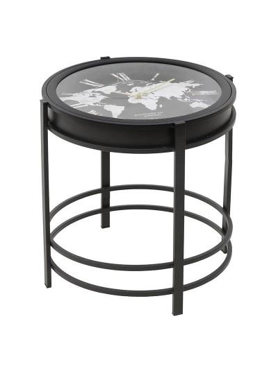 "INART Μεταλλικό Ρολόι/Τραπέζι ""Παγκόσμιος Χάρτης"" Κωδικός: 3-20-104-0074 Διαστάσεις: 42Χ42Χ41 Εκατοστά"