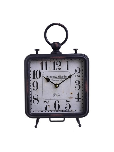 INART Επιτραπέζιο Ρολόι Μεταλλικό Μαύρο Κωδικός: 3-20-773-0322 Διαστάσεις: 20Χ8Χ32 Εκατοστά