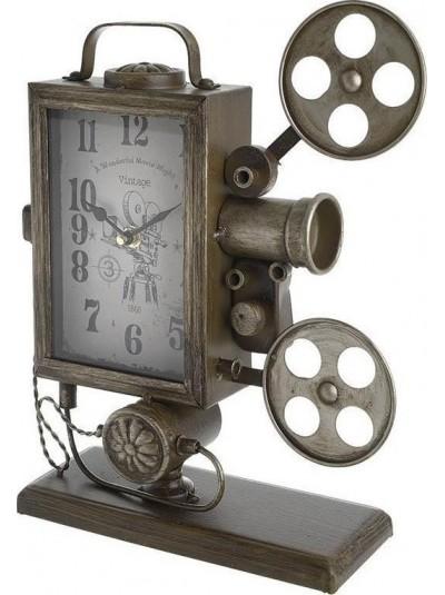 "INART Επιτραπέζιο Μεταλλικό Ρολόι Αντικέ ""Κάμερα"" Κωδικός: 3-20-977-0207"